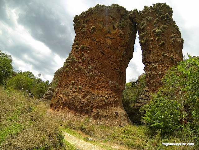 Formações areníticas no Parque Estadual de Vila Velha, Paraná