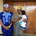 Phtotogist: Awww....See Old Picture Of Tonto Dikeh's Son With His Dad's Uncle Olusegun Obasanjo