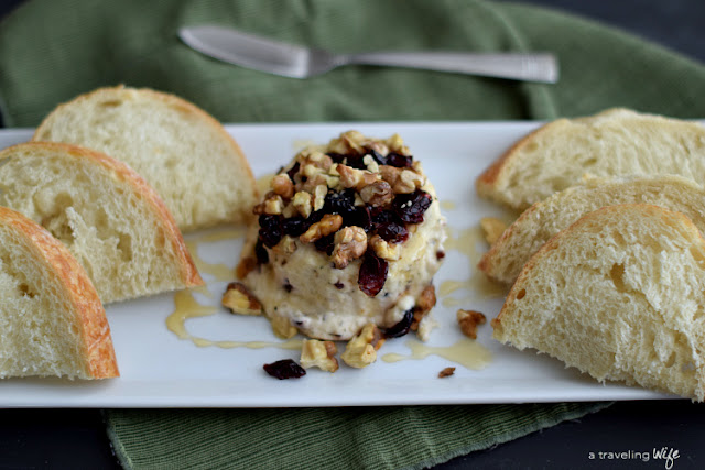Cranberry And Nut Cheese Spread | http://www.atravelingwife.com