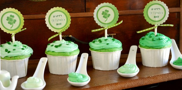 St Patrick's Day Green Ombre Party with FREE Party Printables