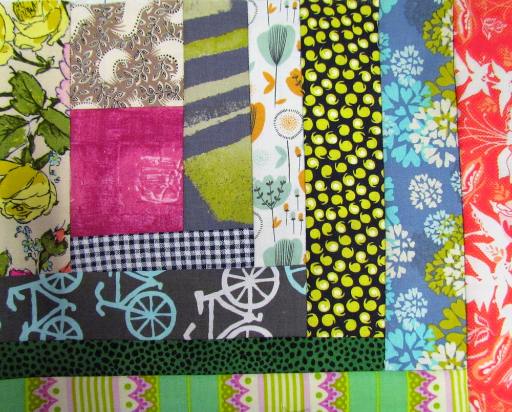 organized improvisational quilt blocks:  Marty Mason
