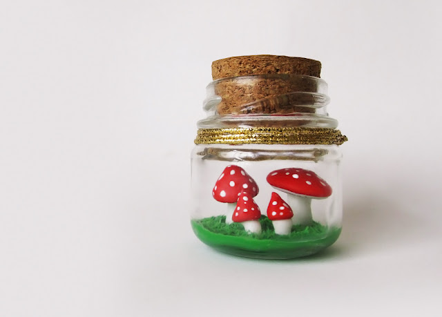 DIY: Terrario de Cogumelos no Potinho - Mushroom in a Bottle Charm