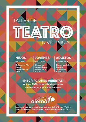 TALLER DE TEATRO EN EL INSTITUTO ALEMÁN