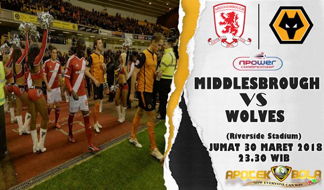 Prediksi Middlesbrough vs Wolves 30 Maret 2018