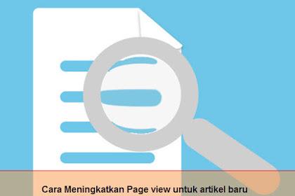 6 Trik Cara Meningkatkan Viewer (Page View) Untuk Artikel Baru