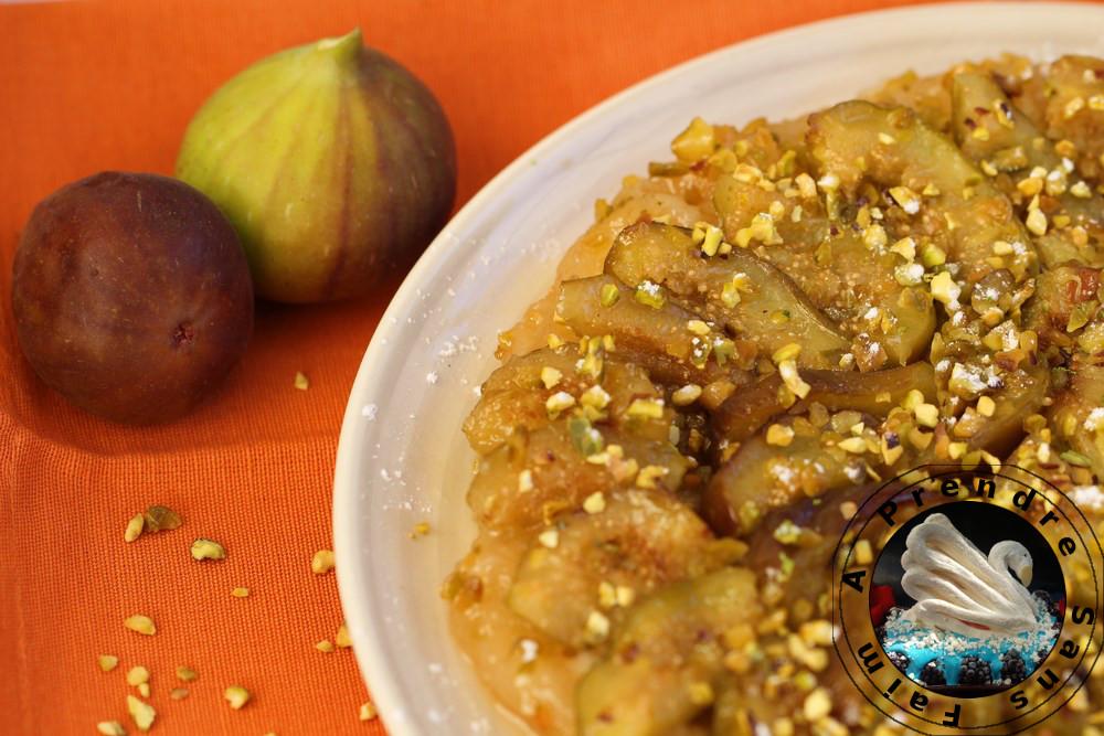 Tatin figues pistaches au citron vert