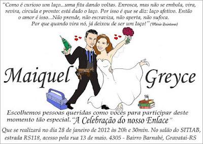 caricatura convite casamento
