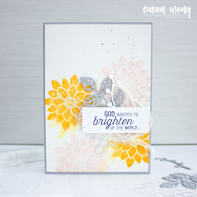 Flourishing Phrases by Stampin' Up! Watercolour Card - Susan Wong for Fancy Friday