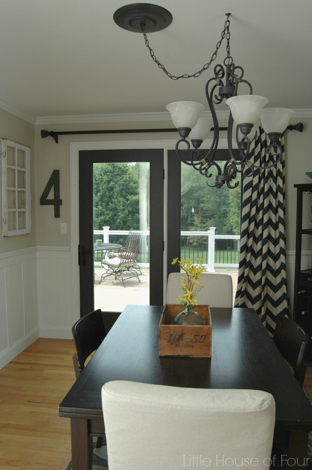Updated Dining Room With Sherwin Williams Iron Or And Accessible Beige
