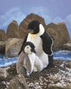 Emperor Penguin Puppet with Baby