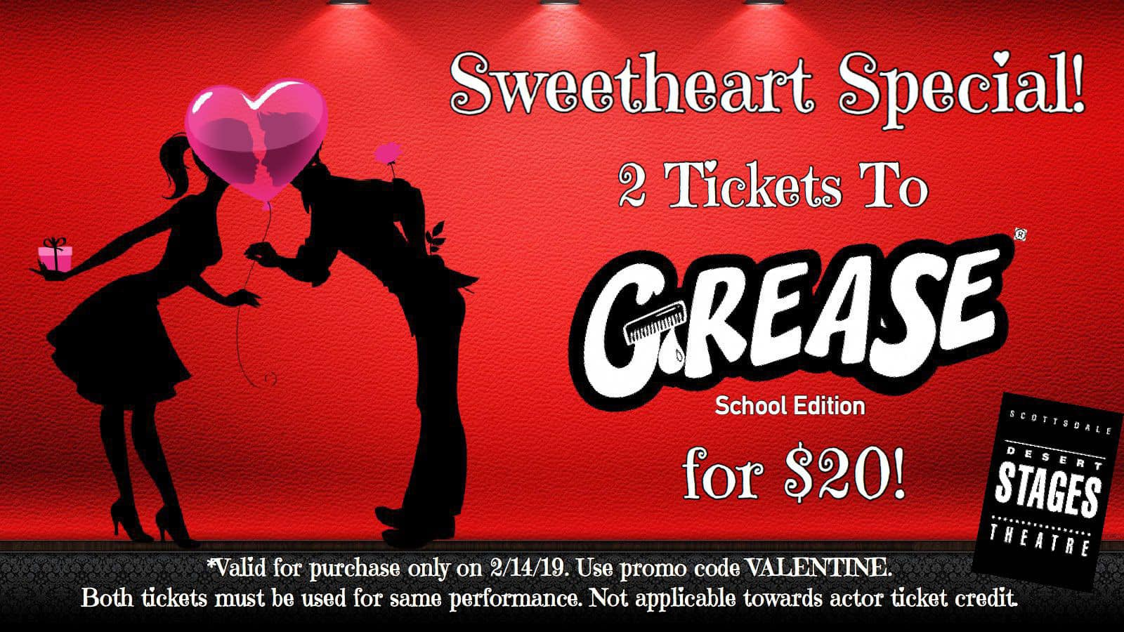 PHX Stages: ticket discount - GREASE - Scottsdale Desert