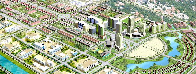 Phối cảnh tổng thể khu đô thị Từ Sơn - Nam Hồng Garden