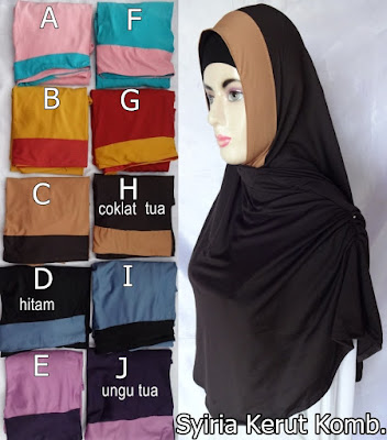 Model Jilbab Terbaru Syiria Kerut Kombinasi