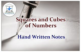 Squares and Cubes of Numbers