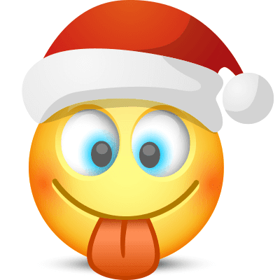 Tongue-Out Santa