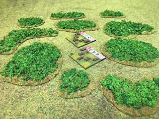 3mm tanks alongside the woodland bases