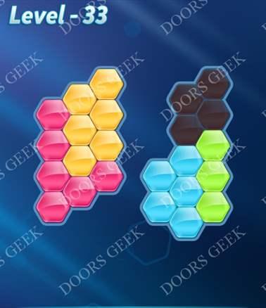 Block! Hexa Puzzle [Intermediate] Level 33 Solution, Cheats, Walkthrough for android, iphone, ipad, ipod