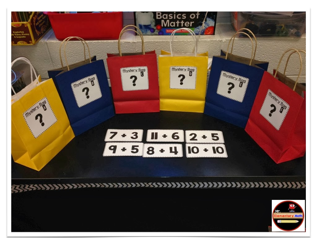 Mr Elementary Math Mystery Bag Number Activities