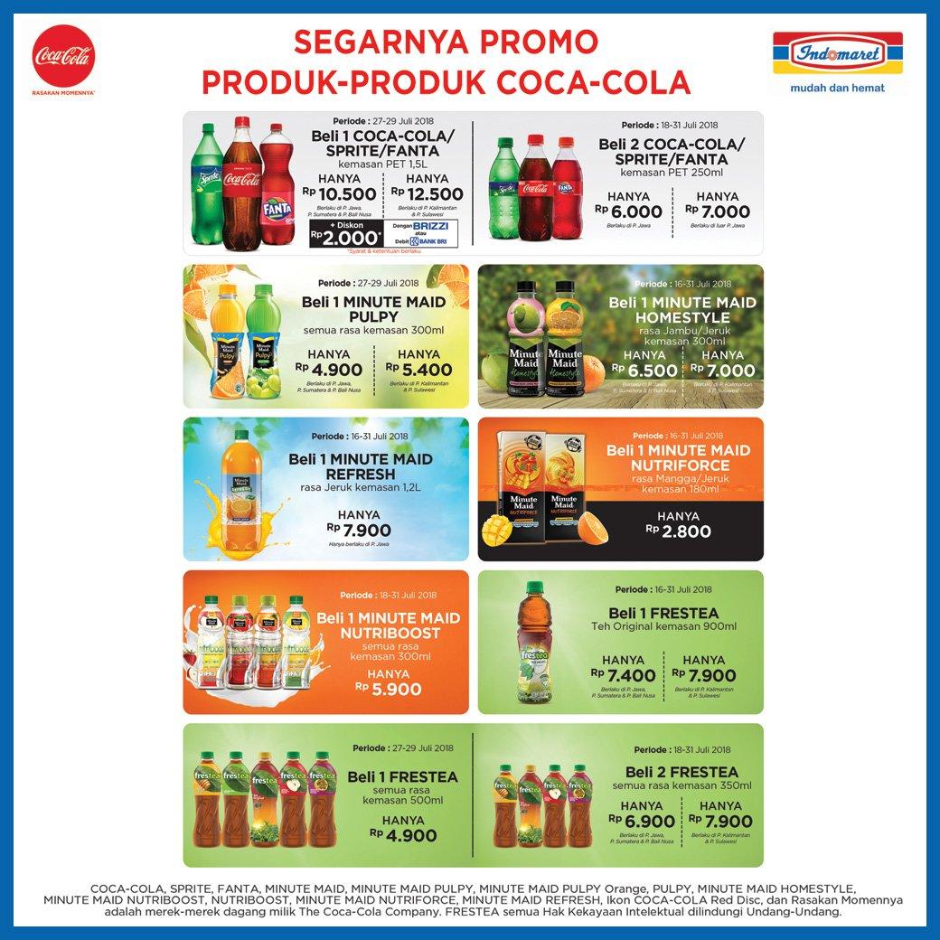 Indomaret - Promo Lengkap Produk Coca Cola Juli 2018