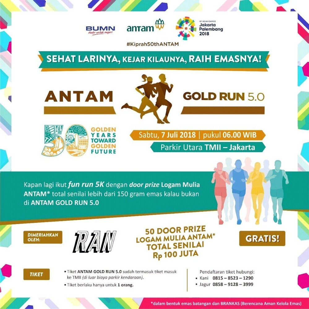 Antam Gold Run 5.0 • 2018