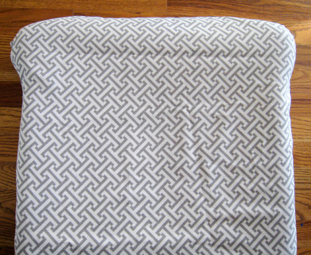Adjusting the fit of the reupholstered glider cushion