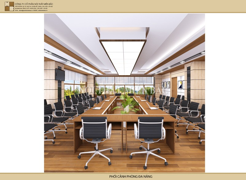 Thiết kế nội thất phòng họp không gian mở