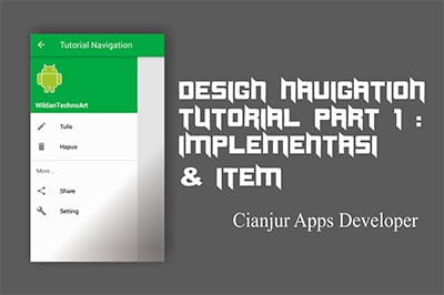 Tutorial Design Navigation Part 1 : Implementasi & Item