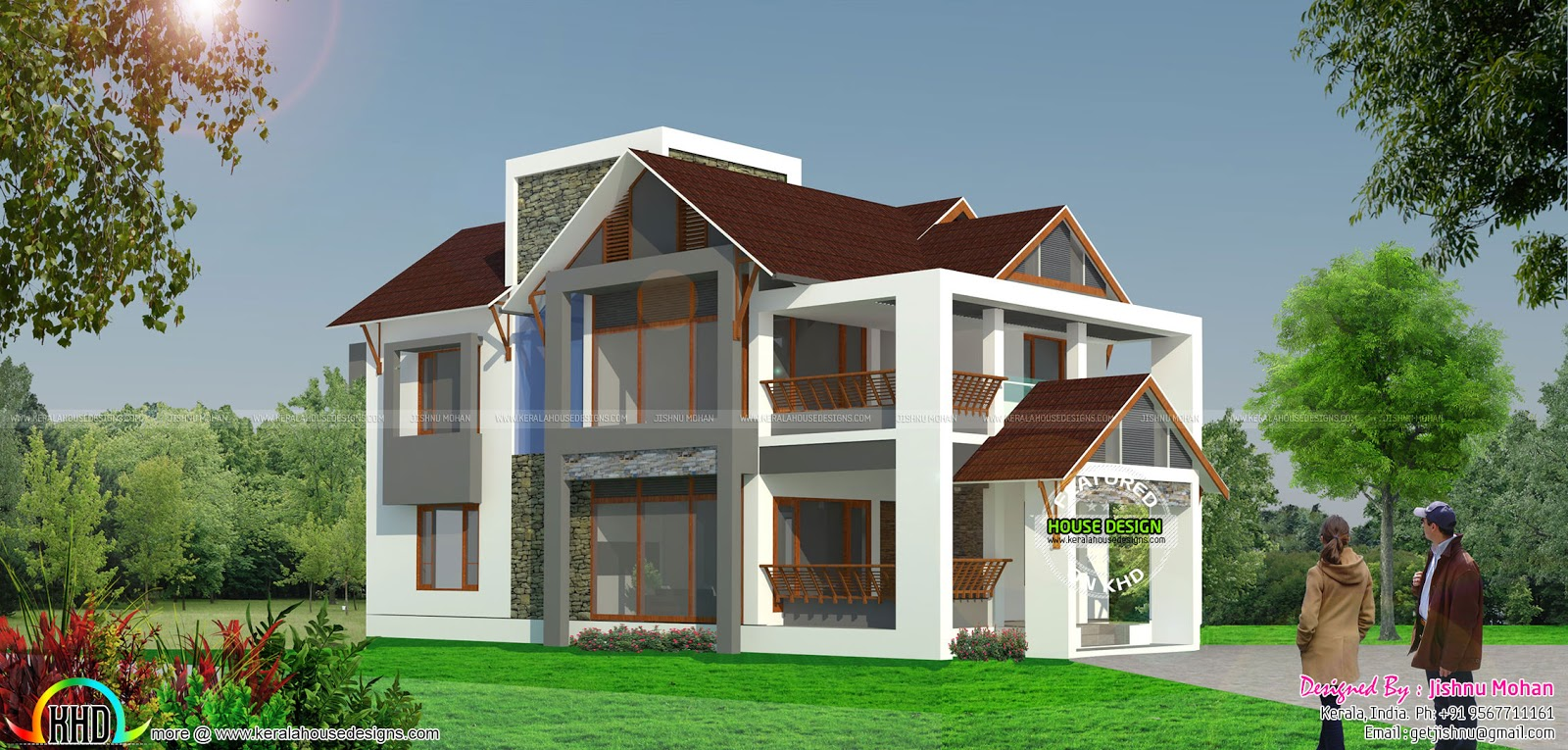Open plan concept home kerala home design and floor plans for 1600 sq ft open concept house plans
