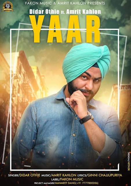 Official Didar Othie Yaar Song Poster, Cover