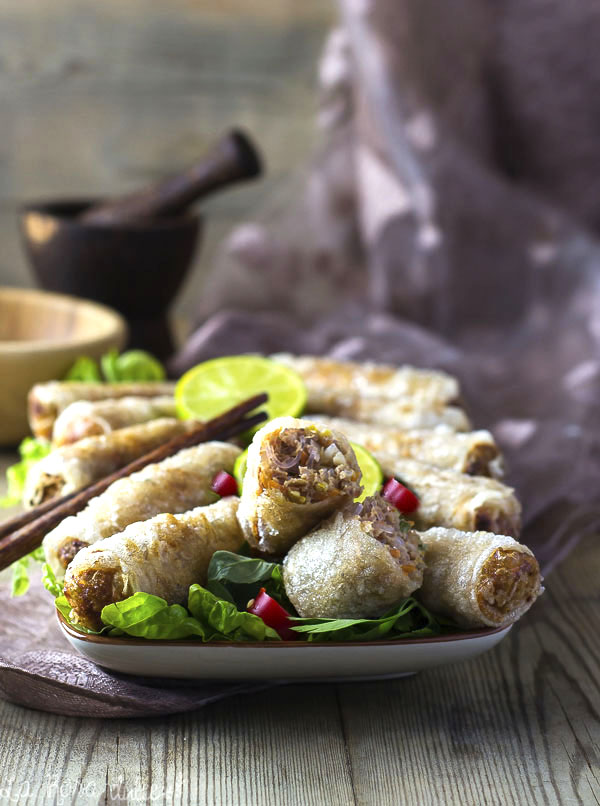 Rollitos vietnamitas fritos  (Chao Gio) #sinlacteos #singluten