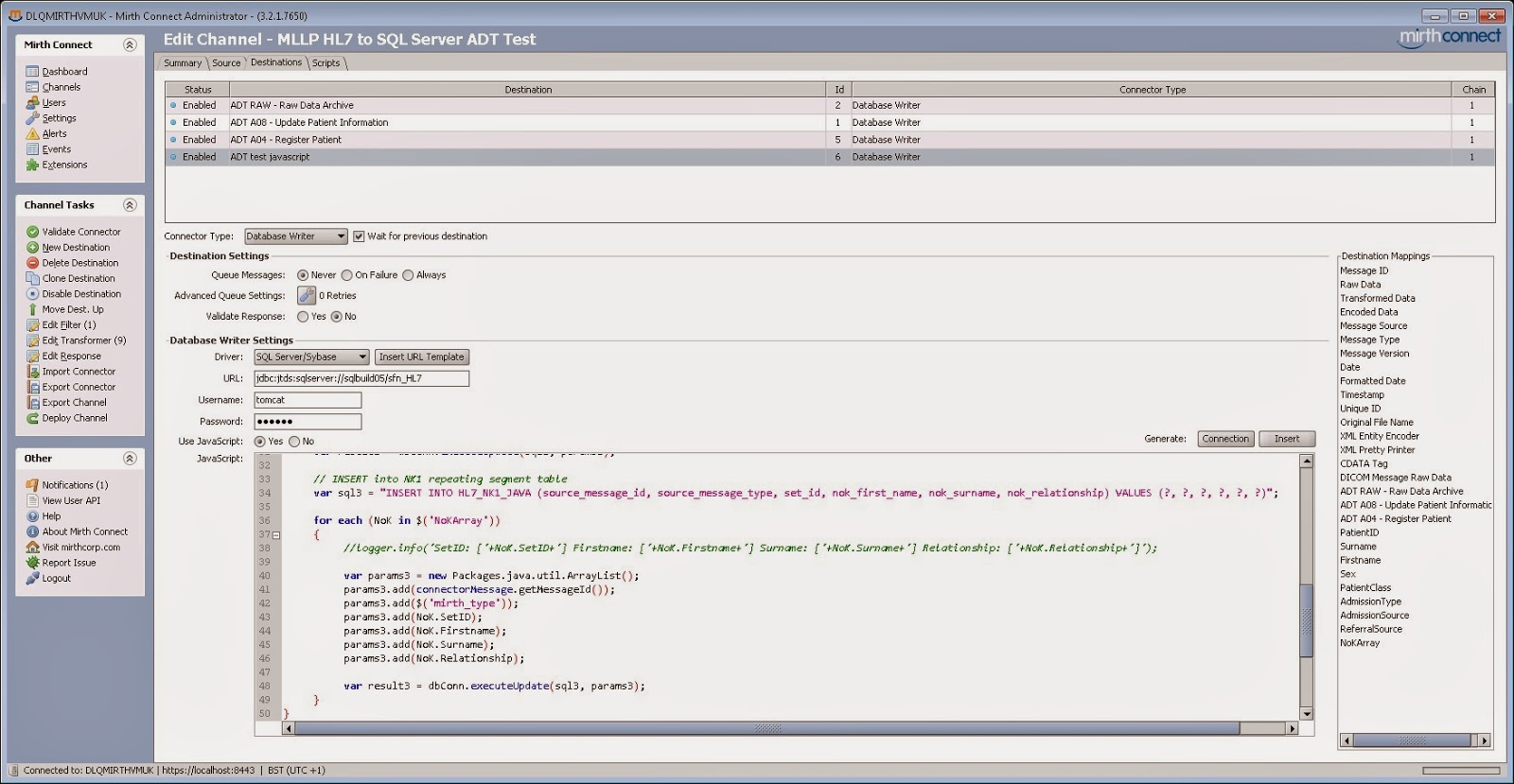 HL7 Stuff: Writing repeating HL7 Segments using MIRTH Connect