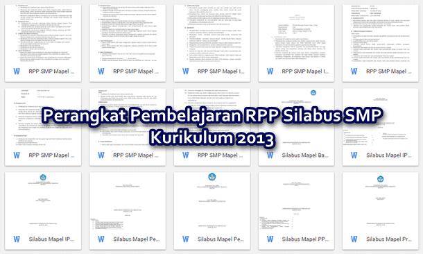 Perangkat Pembelajaran RPP Silabus SMP Kurikulum 2013