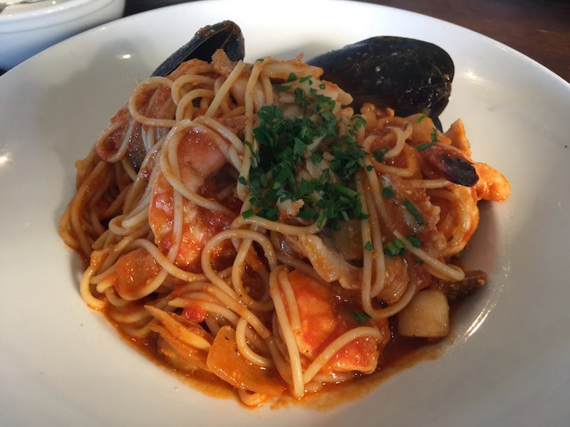 Seafood spaghetti at Sam's Chowder House