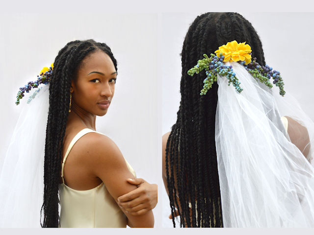 clip on veil bridal veil flower crown