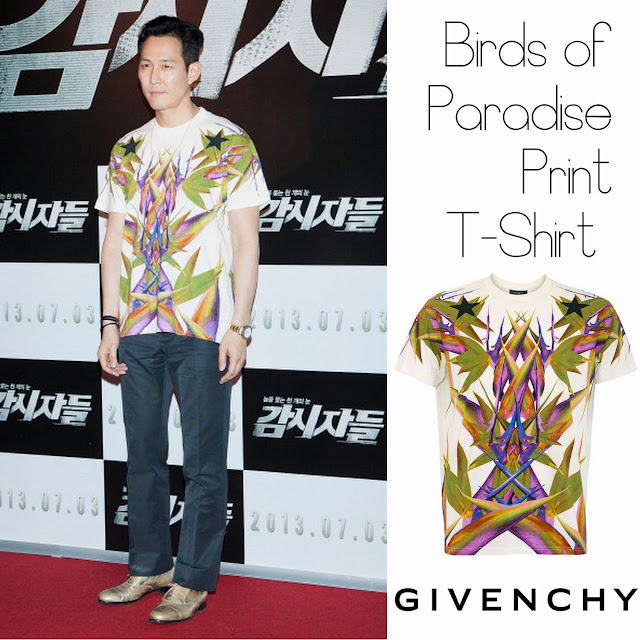 Lee Jung-Jae (이정재) y su Birds of Paradise Print T-Shirt de ...