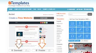 Cara mengganti template standar blog