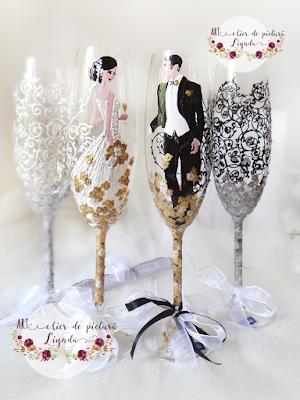 Pahare nunta miri si nasi made by Linda