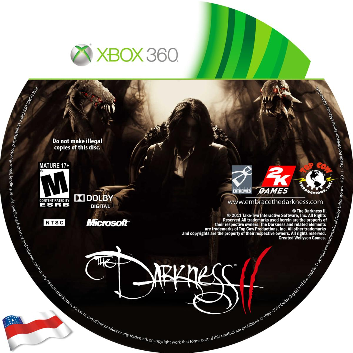 Label The Darkness 2 Xbox 360