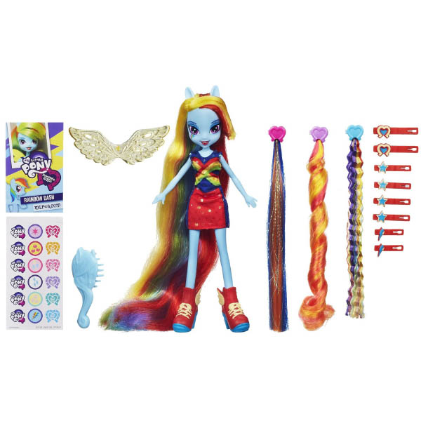 Equestria Girls Rainbow Dash Hairstyling Doll