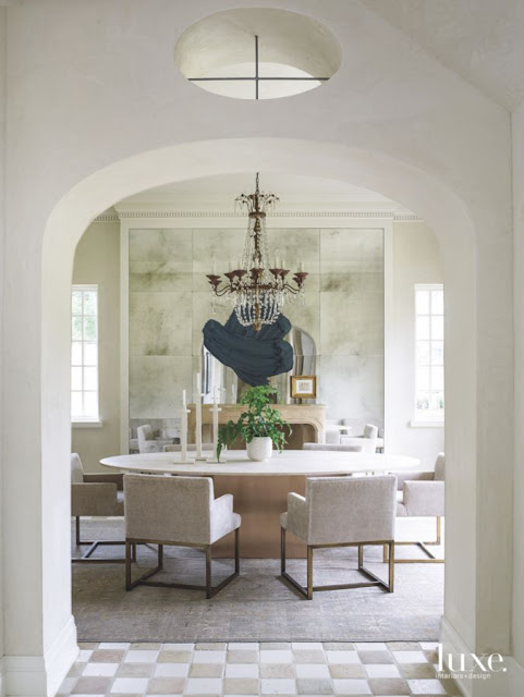 Provence style French chateau dining room interior in Houston - found on Hello Lovely Studio
