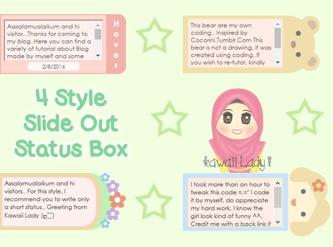 Customize status box