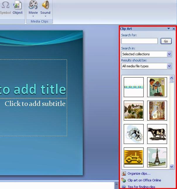Cara Menambahkan Gambar atau Clip Art Pada Ms.Office Power Point