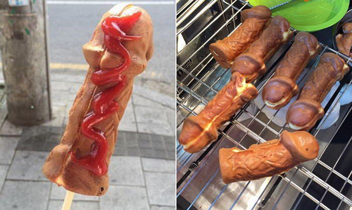 Commit error. Why hot dog not penis were visited