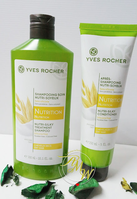 a photo of Yves Rocher Nutri-Silky treatment SHampoo and conditioner review