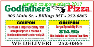 Godfathers Pizza coupons for march 2017