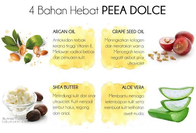 Peea Dolce, losyen wangian mewah Adleesya Beauty