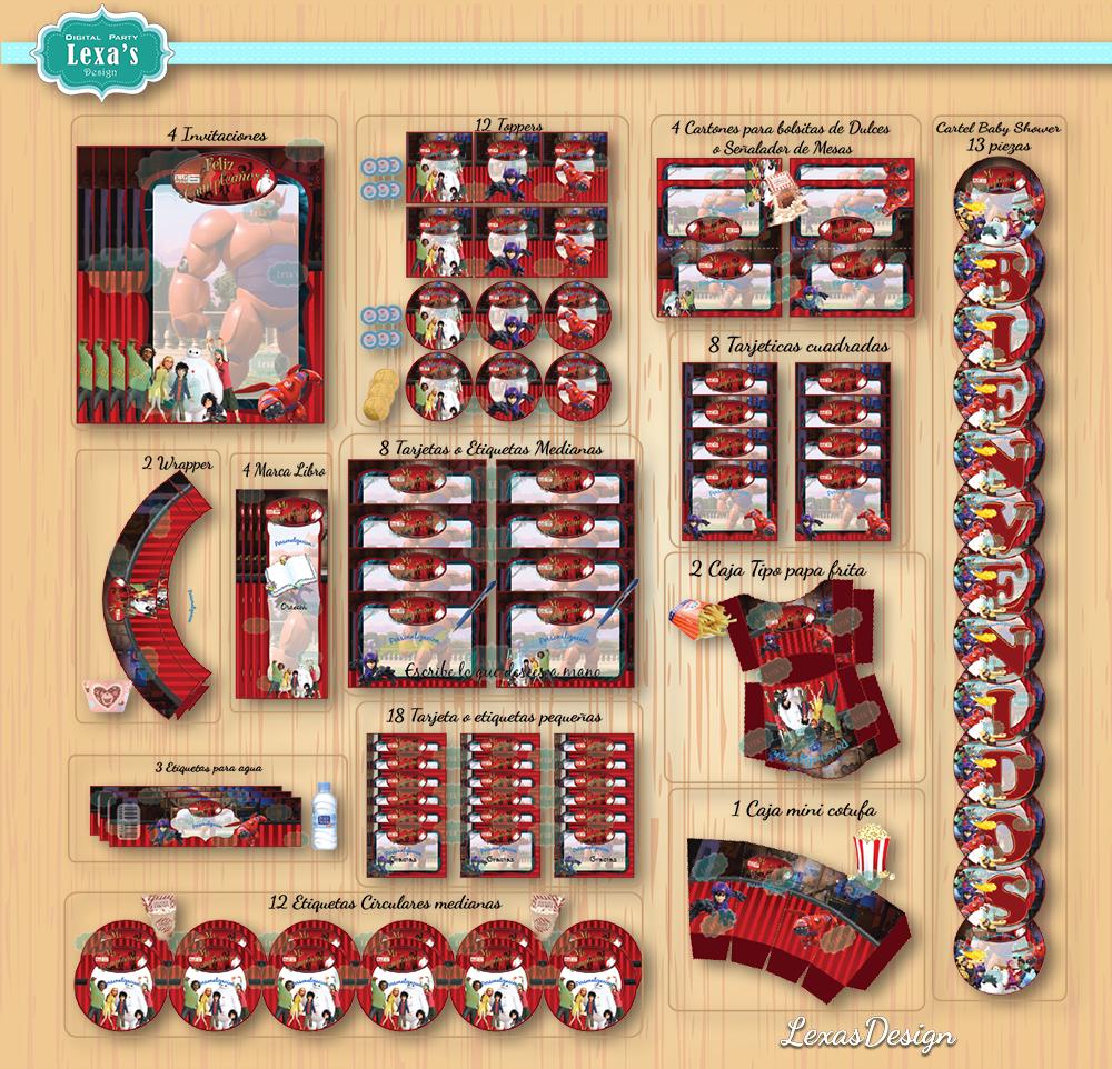 Kit imprimibles para fiestas Big Hero 6 / 6 Grandes Heroes gratis