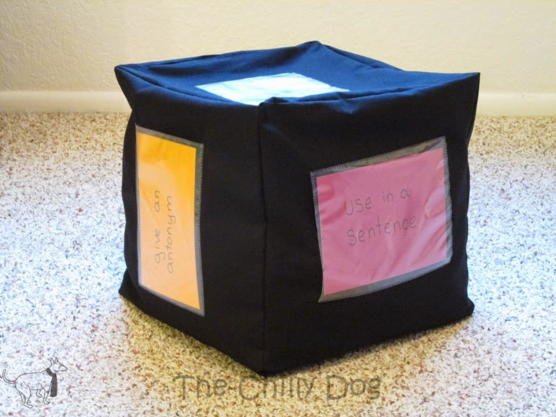 Sewing Tutorial: Make a decision cube for your classroom to help students select activities or projects that correspond to certain subjects or standards