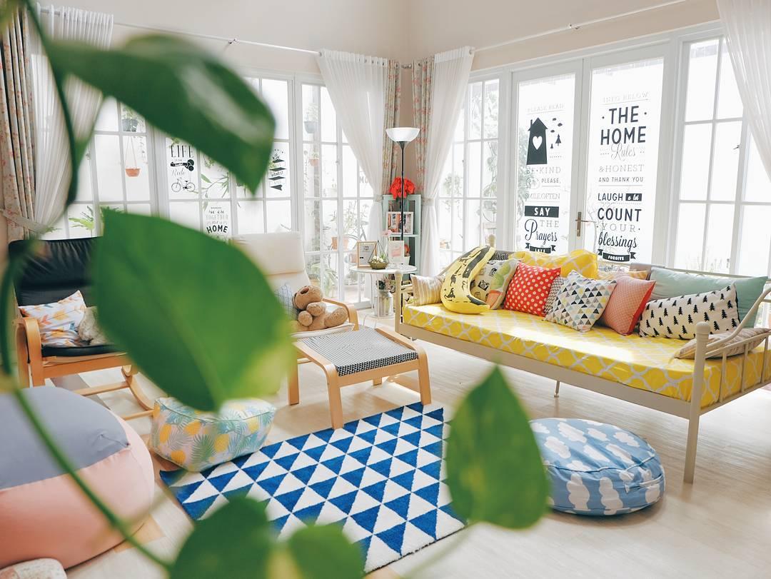 Desain Ruang Tamu Sekaligus Ruang Keluarga Minimalis Gambar Desain