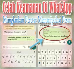 erungkap, Celah Keamanan Di WhatsApp Mungkinkan Peretas Memanipulasi Pesan